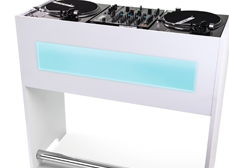 Glorious's latest piece of DJ furniture, combining MDF solidity with acrylic style.